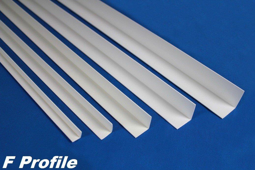 2 m angle PVC d'angle exté rieur en plastique antichoc diffé rentes tailles:, F Profile, dimensions: 20 x 10 mm –  F20 dimensions : 20x 10mm-F20 Effector