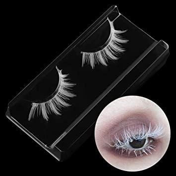 73386ddb803 Amazon.com : gLoaSublim Fake Eyelashes, Soft White False Eyelashes Long  Cross Lashes Extension Cosplay Makeup Tools : Beauty