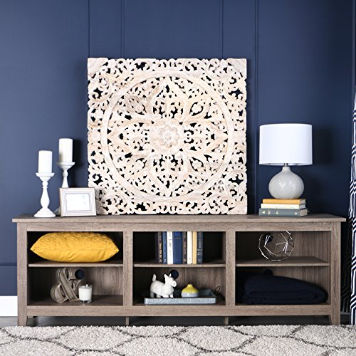 Wood Media Stand (New 70 Inch Wide Driftwood Finish Television)