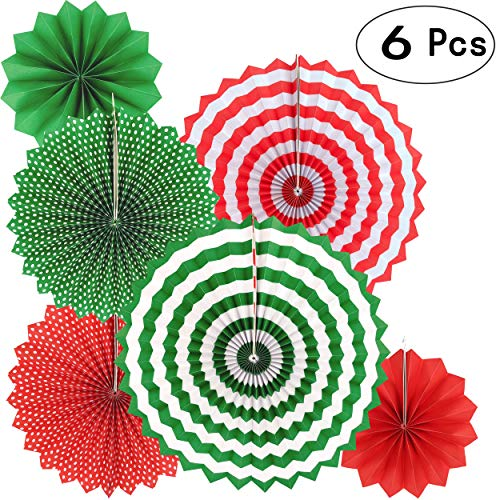 (Merry Christmas Party Hanging Paper Fans Decorations Xmas Santa Party Ceiling Hangings Decorations,)