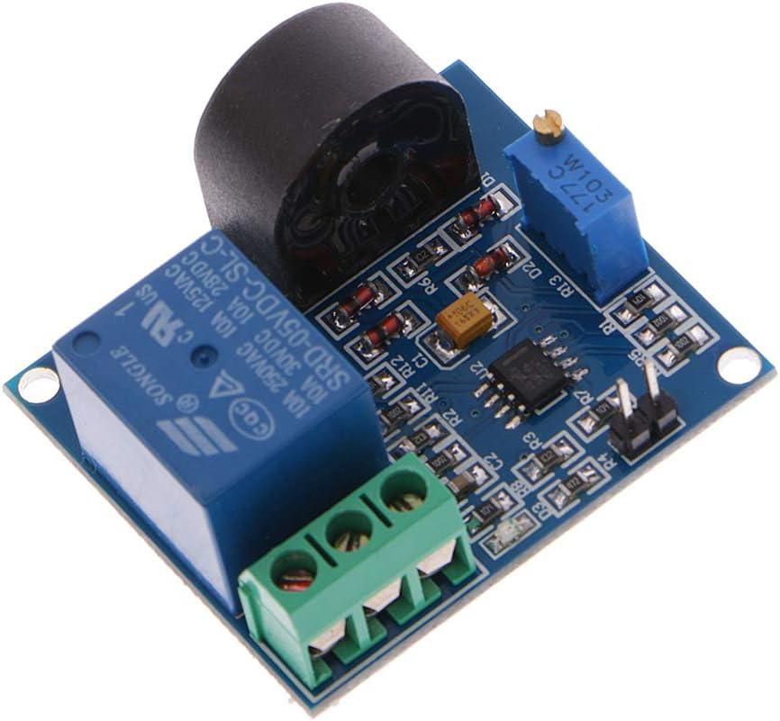 fivekim Module de Relais de Protection Contre Les surintensit/és 5A Carte de d/étection de Courant Alternatif 12V capteur de d/étection de Courant de Relais 5V