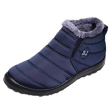 QUICKLYLY Botas De Nieve Mujer,Botines para Adulto,Zapatillas/Zapatos De Invierno Calzado Sólido Mantener Cálidos Más De Terciopelo Planas: Amazon.es: ...