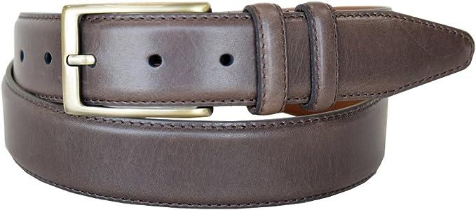 Back Nine Genuine Suede Edged Webbed Cotton Dress Belt In Blue Mens Lejon Dress Belt Made In USA