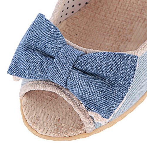AgooLar Clair Couleur d'orteil Jean Unie Tire Correct GMBLA012584 Talon à Femme Ouverture Sandales Bleu rOfUrF