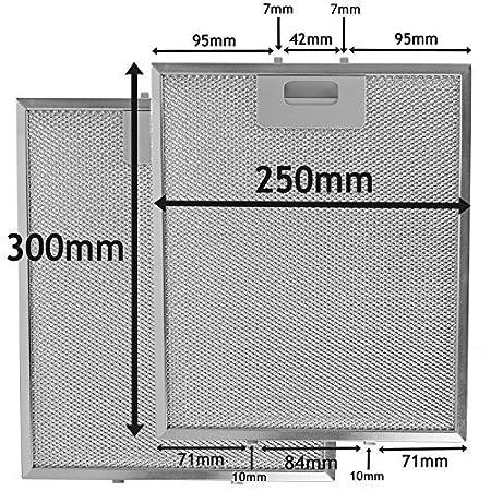 Lote de 2 filtros metá licos para campanas extractoras de AS Direct Ltd ™ , 300mm x 250mm