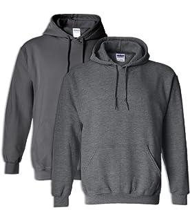 1 Dark Chocolate Gildan G18500 Heavy Blend Hooded Sweatshirt 3XL 1 Charcoal
