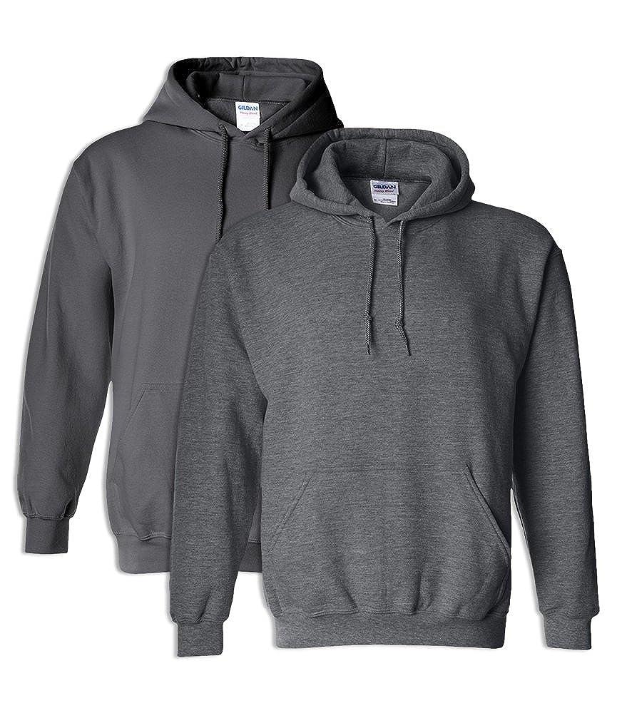 1 Dark Heather Gildan G18500 Heavy Blend Adult Hooded Sweatshirt XL 1 Charcoal