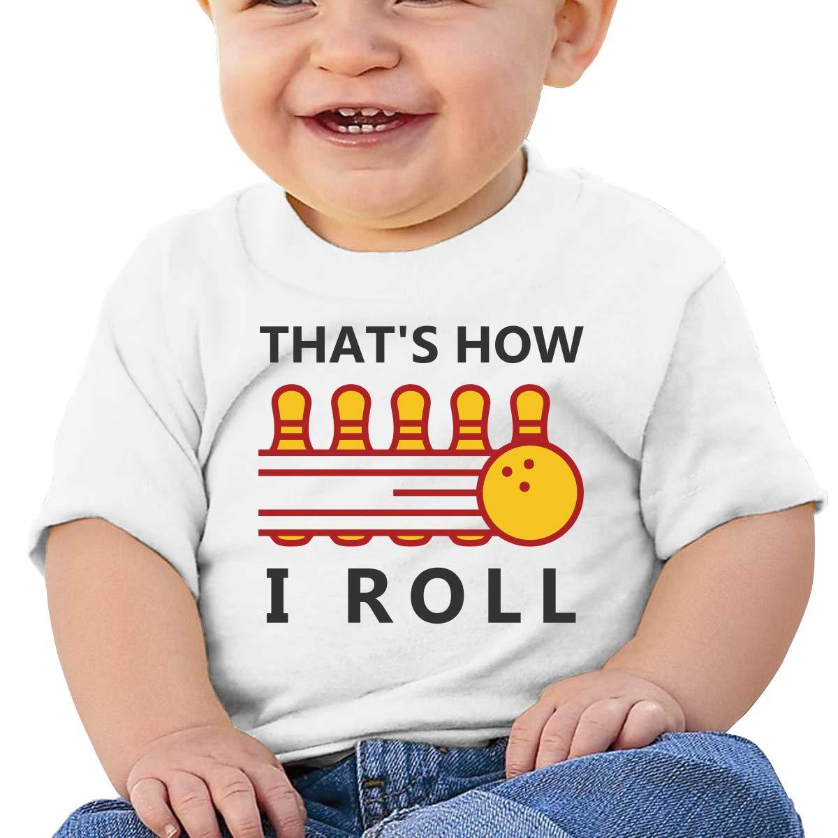 Qiop Nee Thats How I Roll Bowling Short-Sleeves T-Shirt Baby Boy