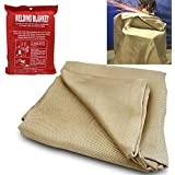 XtremepowerUS Heavy Duty Welding Cover Protective Fabric Gear Blanket (4' x 6')