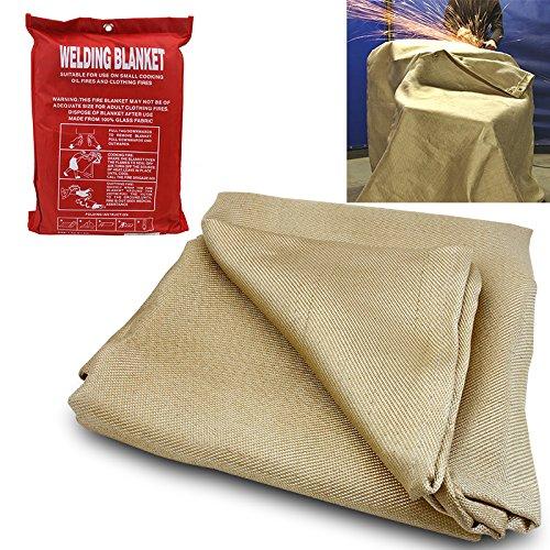 MCR Safety 38063 Heavy Side-Split Leather Welding Blanket Gray 6-Feet by