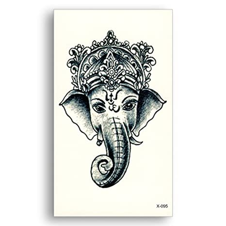 3d Temporary Tattoo Sticker Lord Ganesha Design Size 105x6cm 1pc 95