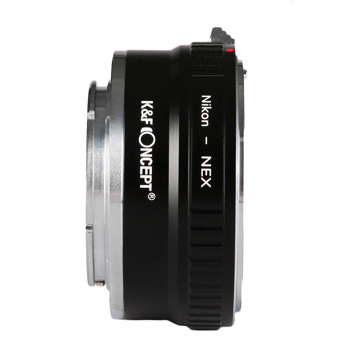 K/&F Concept Lens Mount Adapter FD-NEX Copper Adapter For Canon FD FL Lens to NEX E-Mount Camera for Sony Alpha NEX-7 NEX-6 NEX-5N NEX-5 NEX-C3 NEX-3