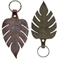Hide & Drink, Leather Leaves Keychain (2 Pack) / Key Holder/Autumn Foliage/Key Ring/Forest/Woods/Nature Lover, Handmade…