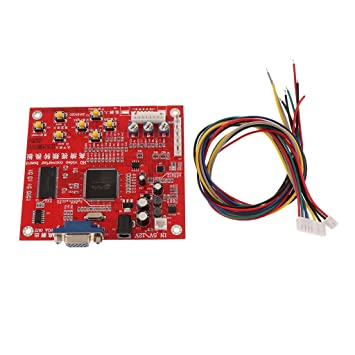 Homyl 13x11x4 cm Classic HD Video Converter Board with Cables CGA to