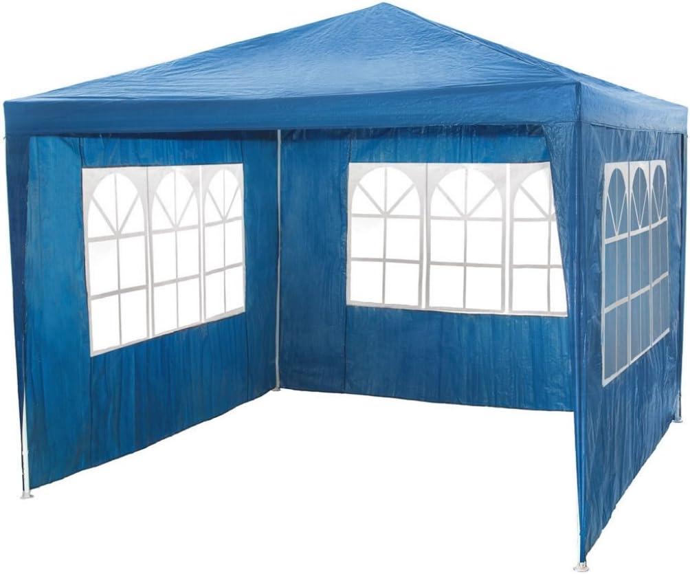 Carpa gazebo 3x3 con laterales. Económica. Azul: Amazon.es: Jardín