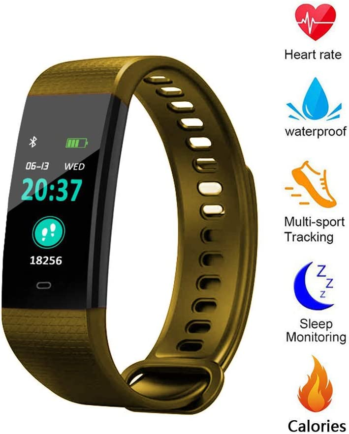 Blood Pressure Monitor Watch,Color Screen Fitness Tracker with Heart Rate Blood Oxygen Monitor,Smart Wristband with Calorie Counter Watch Pedometer Sleep Monitor
