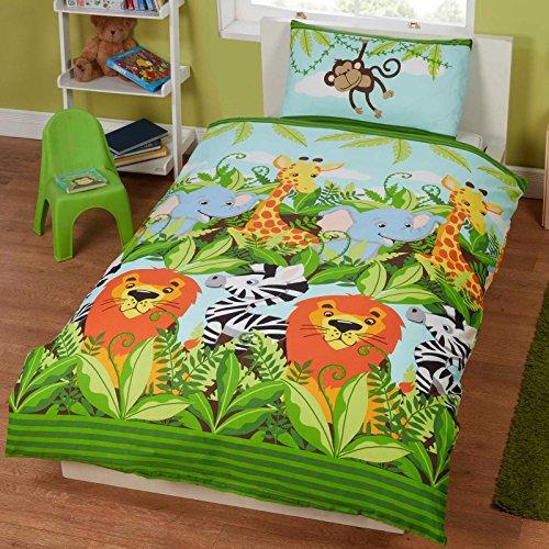 Jungle Friends Junior  Size, Kids Duvet cover and Pillowcase