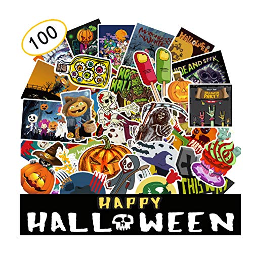 LDYIE Halloween Stickers Halloween Scrapbook Stickers Self Adhesive Shapes for Halloween Craft Supplies Perfect for Halloween Party Decoration—100 Pics ()