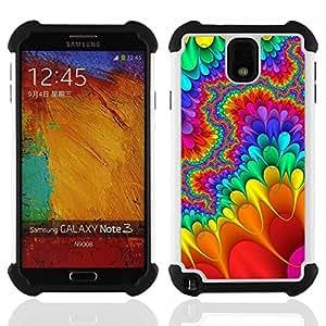- trippy lsd hippies freedom psychedelic/ H??brido 3in1 Deluxe Impreso duro Soft Alto Impacto caja de la armadura Defender - SHIMIN CAO - For Samsung Galaxy Note3 N9000 N9008V N9009