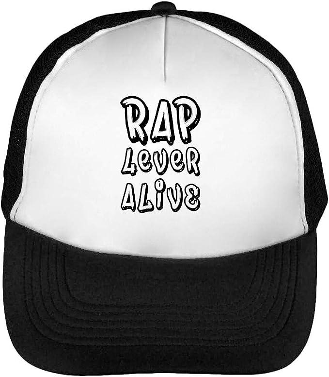 Rap 4 Ever Alive Hip Hop Typography Gorras Hombre Snapback Beisbol ...
