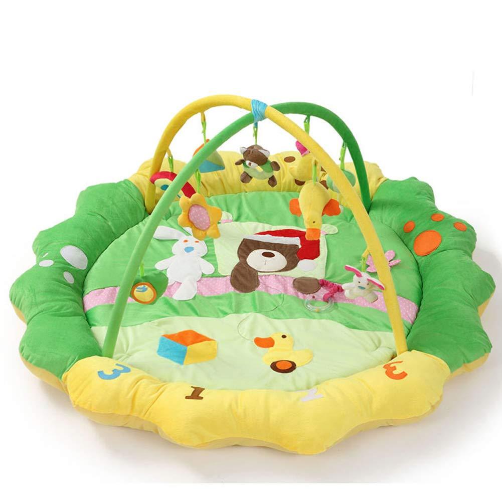 Grün FYABB Baby Musical Playmat Gym, New-Born Toddler Activity Mat Rug mit Spielzeug und Rattle für Home Kids Dekoration Schlafzimmer Geschenk