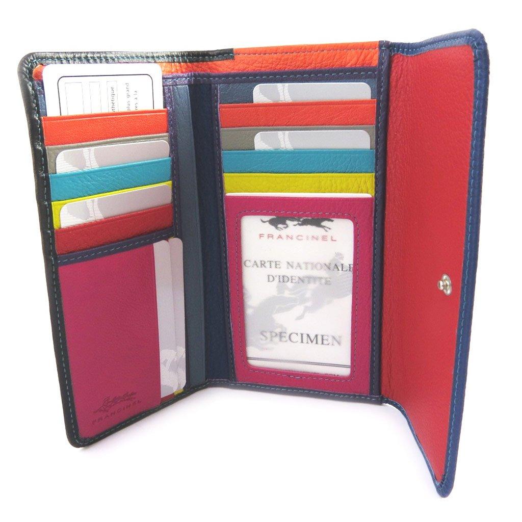 Francinel [M0564] - Grand porte-cartes 'Troubadour' bleu multicolore hHXv9e