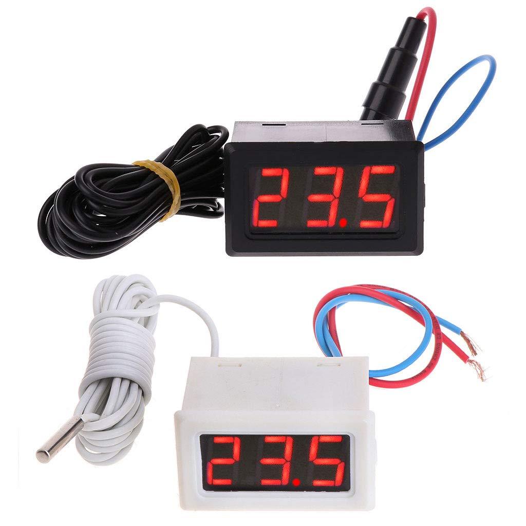 DAchun11 Digitales Thermometer mit LCD-Display, 110 V, 220 V, 100-230 V, Temperatursensor, mit 2 m Sonde