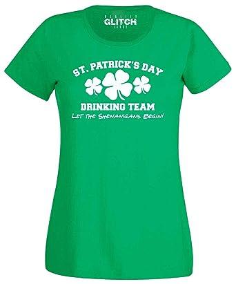 00d34297 Reality Glitch Women's ST. Patrick's Day Drinking Team T-Shirt ...