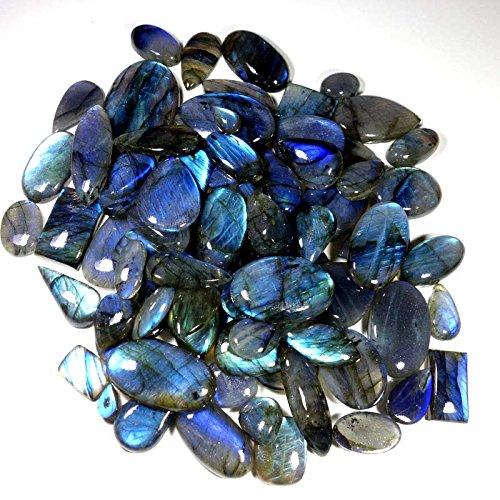 1001CTS. WHOLESALE LOT NATURAL BLUE FIRE LABRADORITE MIX CABOCHON GEMSTONE