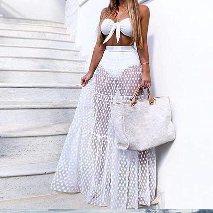 8c410e90c1 Amazon.com: Summer Long Skirt, Women Mesh Sexy Dress Fashion Party ...