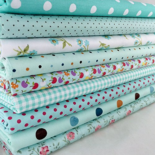 100% Cotton 9 Assorted Pre Cut Charm 10 Squares Quilt Fabric Corina Home