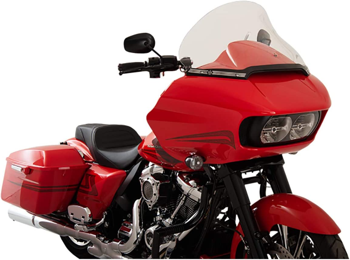"""Klock Werks 15"""" Clear Pro-Touring Flair Windshield for 2015 & Newer Harley-Davidson Road Glide models"""