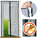 "Magnets Screen Doors, YSLF Black Full Frame Velcro Magnetic Screen for Door Magnetic Door Screen Magnets Snap Shut Automatically Fits Door Size up to 39"" x 82"""