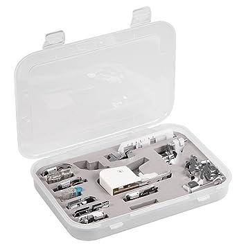 Kit de 15 Piezas Prensatelas Accesorios para Máquina de Coser Presser Foot Feet Kit Machines Set: Amazon.es: Hogar