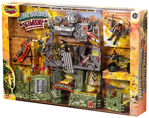 Lanard The Corps Battlefield Bunker Play Set with Light and Sound ()