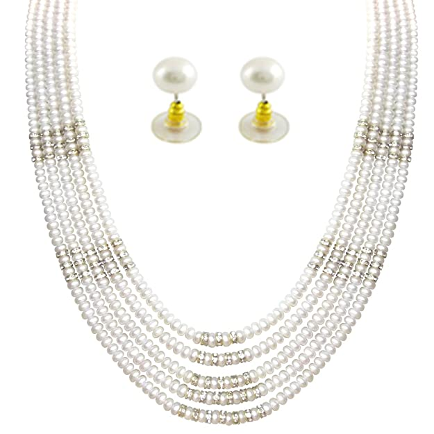 Jpearls Capacious Massive Pearl Set Jewellery Sets at amazon