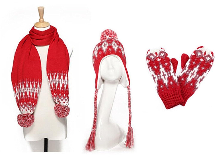 Winter-Woolen Warm Strickschal / M¨¹tze / Handschuhe dreiteilige von Withered eingestellt