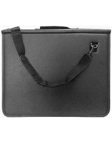 5cf41c87 ArtWay Premium Presentation Portfolio - with Water-Resistant Faux Leather  Cover and Shoulder Strap