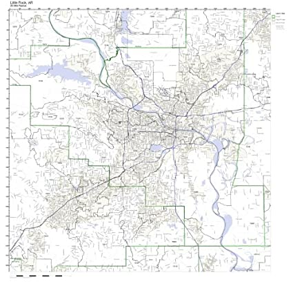 Amazon.com: Little Rock, AR ZIP Code Map Laminated: Home & Kitchen