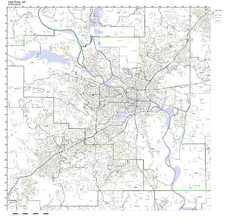 Amazon.com: Little Rock, AR ZIP Code Map Not Laminated: Home ...