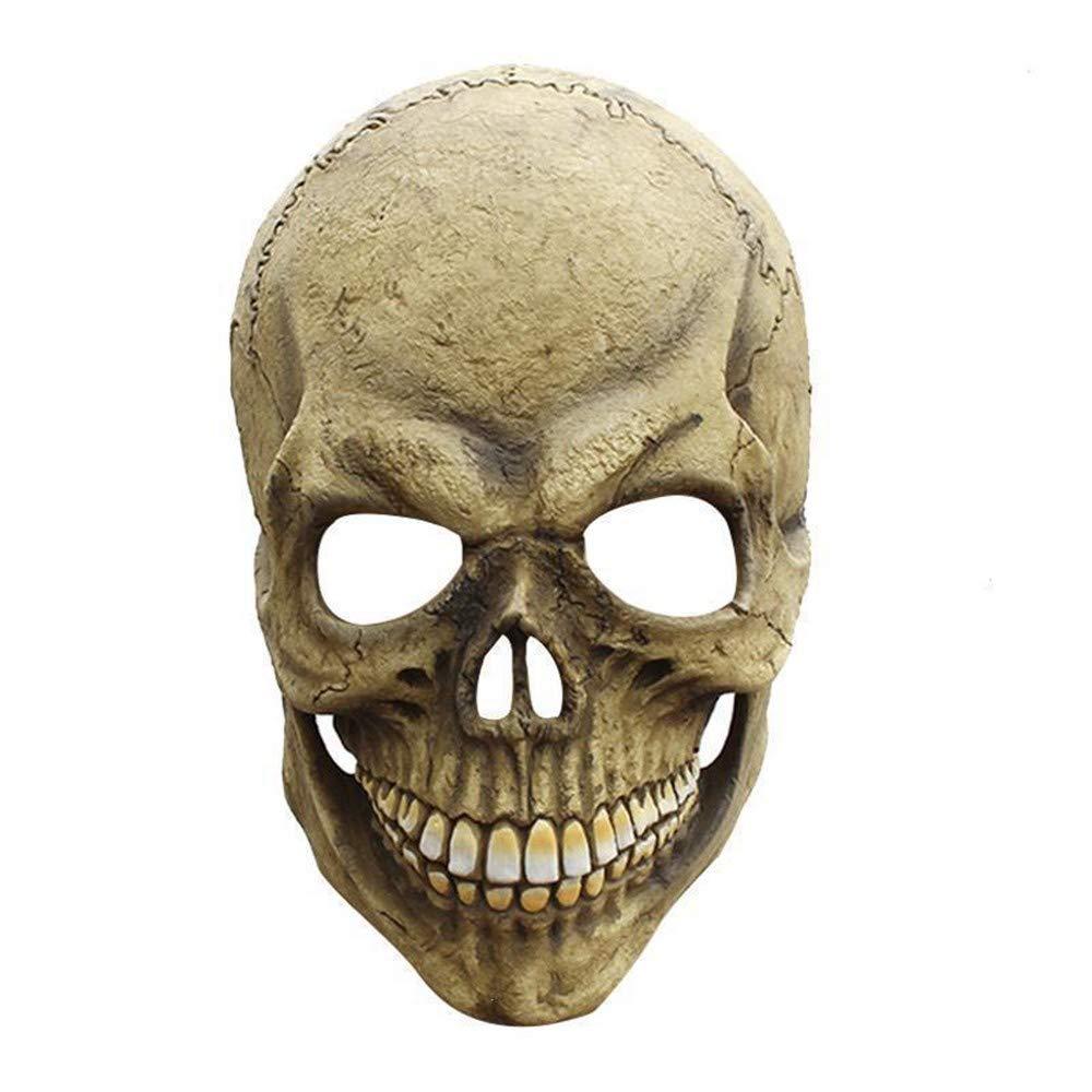 Lianaic Maske Horror Halloween Maske Scary Schädel Latex Party Maske Für Erwachsene Kostüm Up Rolle Halloween Requisiten Maskerade Kostümzubehör