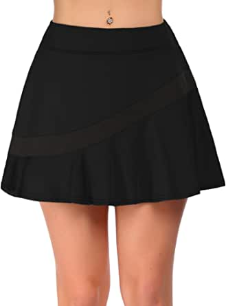 COOrun Skorts Skirts for Women with Pockets Pleated Tennis Skirts Activewear Running Golf Athletic Workout Sports