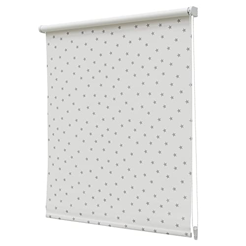 Estor Enrollable Opaco Regular N.105 60x190cm Blanco/Gris