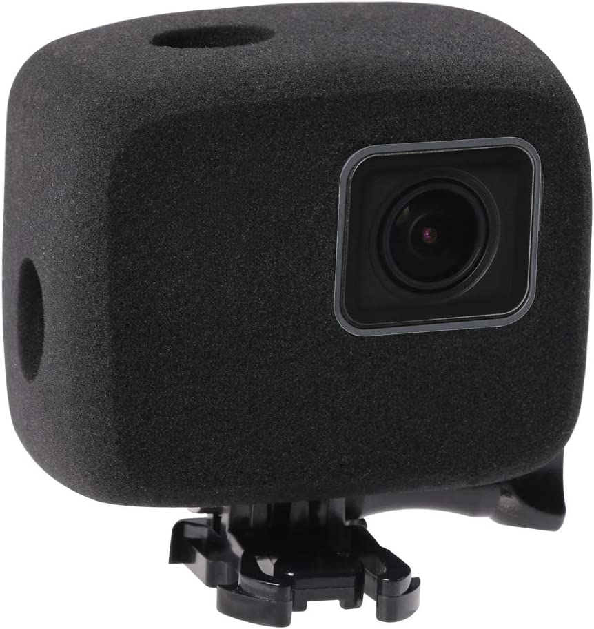 Windslayer Cover Housing Frame Case Compatible with Go pro Hero 7 6 5 Black,Noise reducing Foam Sponge Windproof case, Reduces Wind Noise for Optimal Audio Recording