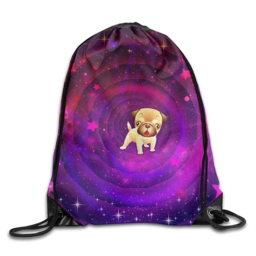 Amazon.com  Drawstring Backpack Gym Bag Travel Backpack Cute Dog Space  Stars Purple Light Best Gym Bags for Boys Girls Mothers Day 16.9x14.2   Computers   ... e26f3cbdf8946