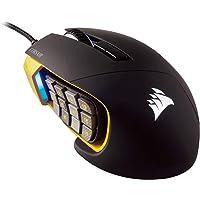 CORSAIR Scimitar Pro RGB - MMO Gaming Mouse - 16,000 DPI Optical Sensor - 12 Programmable Side Buttons - Yellow