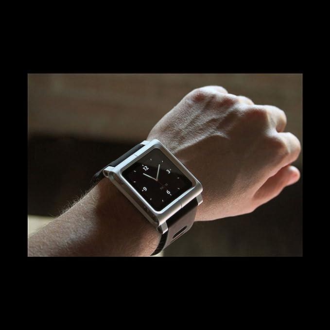 c057a6eb90c6b Alienwork Pod2Watch Armband für iPod nano 6 Watchband Uhr-Kits Aluminium  silber AN601A-07