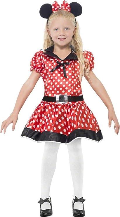 EL CARNAVAL Disfraz Ratita Minnie niña Talla de 2 a 4 años: Amazon ...