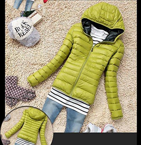 Plumas Plumas De Chaqueta De Verde Ropa Mujer Chaquetas Fashion Acolchados Slim Outerwear Coat Invierno Con Fit Manga Abrigo Abrigos Casual Outdoor Cremallera Larga H4wFq