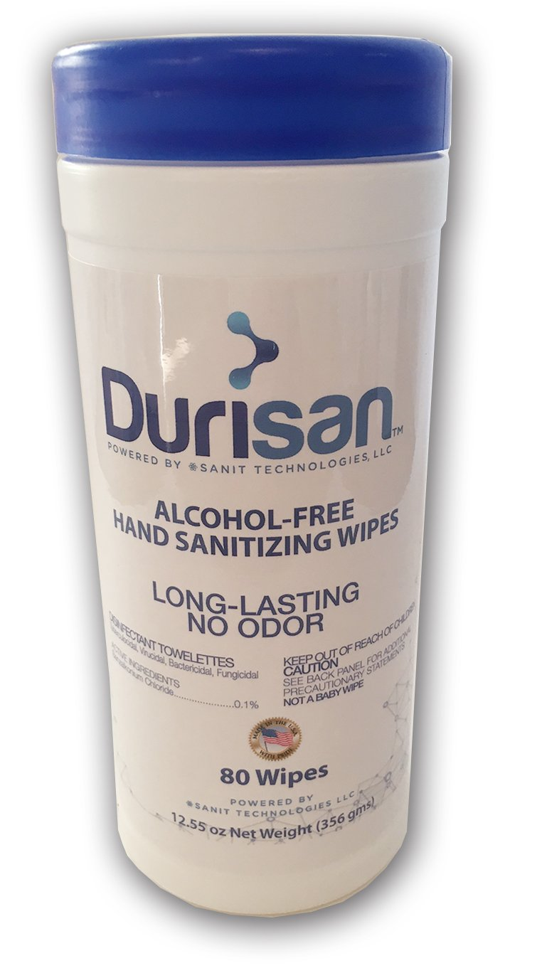 Durisan Hand Sanitzer Wipes 6''x6.75'' 80 Count - 12 Pack Case by Durisan